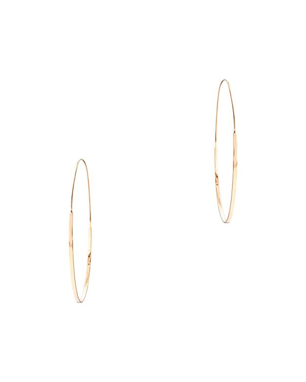 Lana Jewelry Large Flat Magic Hoop Earrings