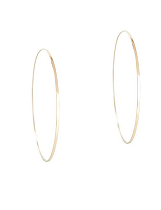 Lana Jewelry Large Flat Magic Hoop Earrings: Gold