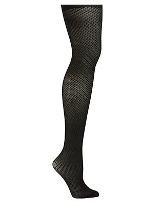 Micro Diamond Metallic Tights- FINAL SALE