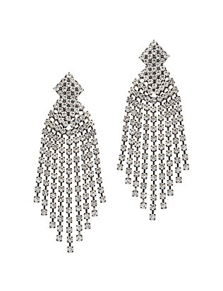 Kenneth Jay Lane Crystal Fringe Earrings