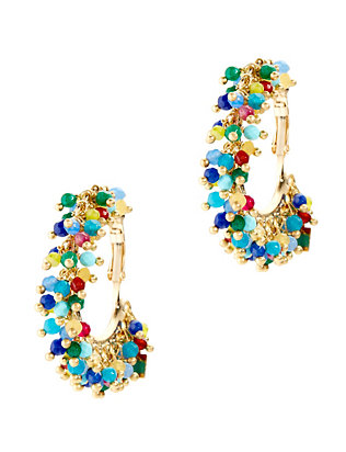 Carmen Beaded Hoop Earrings