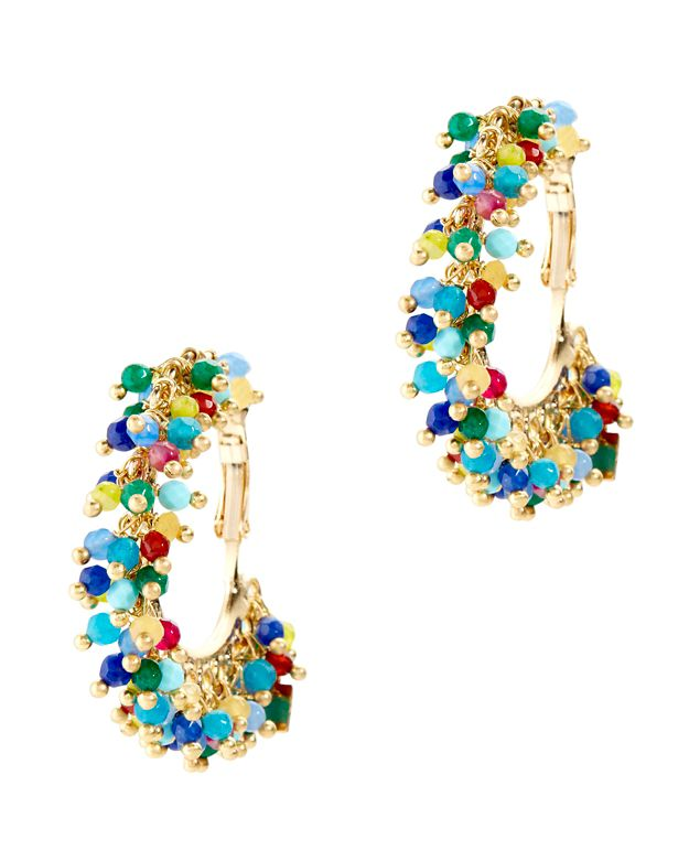 Rosantica Carmen Beaded Hoop Earrings