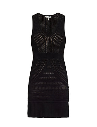 Ronny Kobo Jodi Pointelle Sleeveless Dress