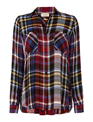 L'Agence Jacqueline Plaid Shirt