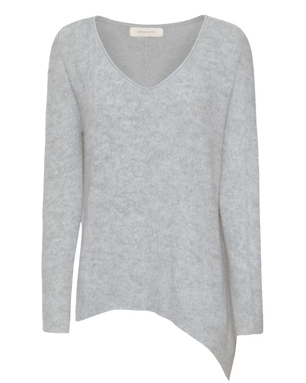 Inhabit EXCLUSIVE Cashmere Rolled V-Neck Sweater