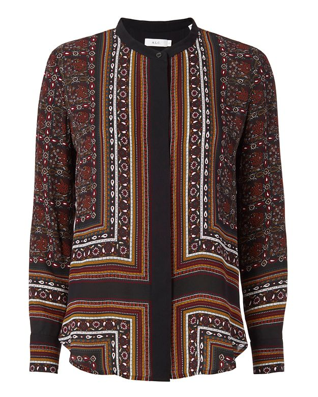 A.L.C. Franco Printed Blouse