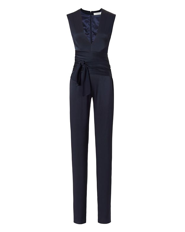 Galvan Satin Wrap Jumpsuit