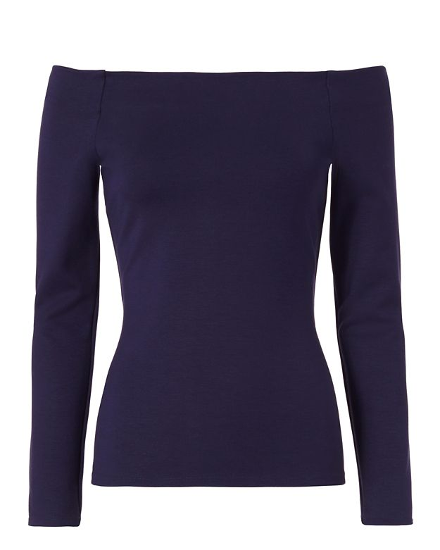 L'Agence Cynthia Off The Shoulder Ponte Top