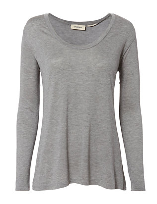 L'Agence Perfect Scoop Neck Long Sleeve Tee
