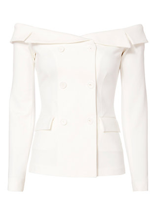 L'Agence Stephan Off-The-Shoulder Blazer Top
