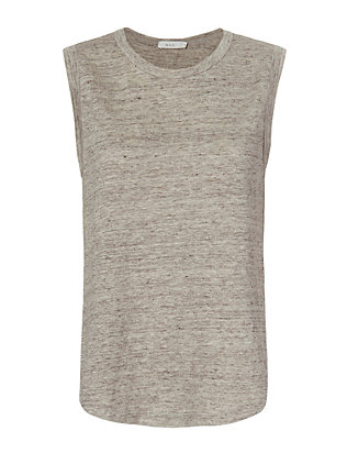 A.L.C. Jill Cross Back Crew Tank: Grey
