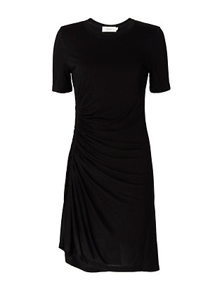 A.L.C. Sally Ruched Tee Dress: Black