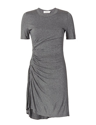 A.L.C. Sally Ruched Tee Dress: Grey