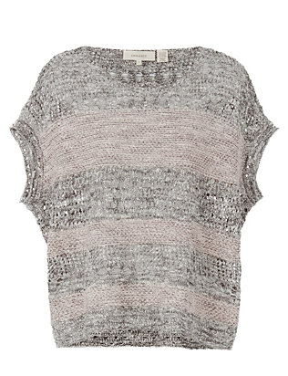 Inhabit Short Sleeve Open Weave Knit