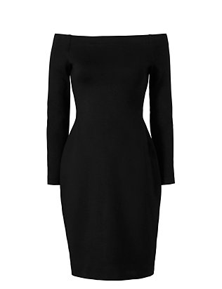 L'Agence Daphne Off The Shoulder Dress: Black