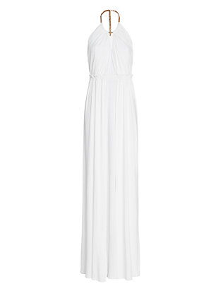 Emilio Pucci Chain Detail Jersey Gown