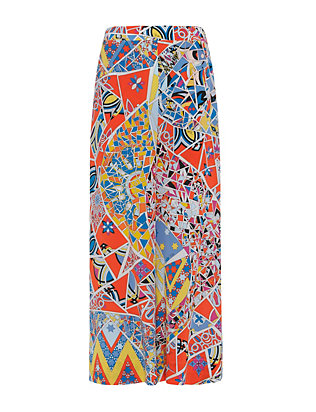 Emilio Pucci Abstract Print Ankle Wide-Leg Trousers