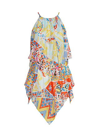 Emilio Pucci Abstract Print Asymmetric Caftan