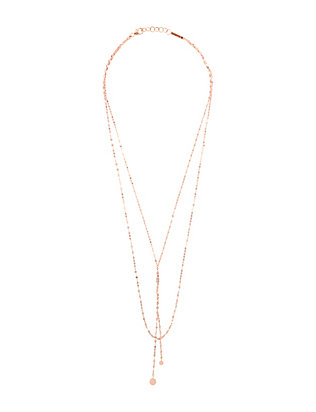 Lana Jewelry Petite Blake Necklace: Rosegold