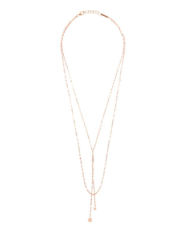 Lana Jewelry Petite Blake Necklace: Rose Gold