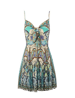 Meet Me In Casablanca Tie Front Dress