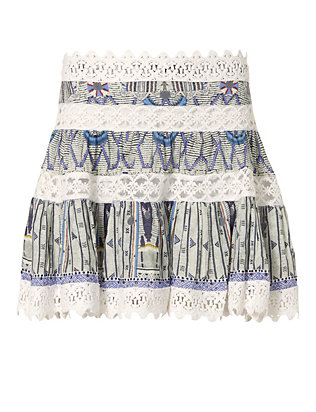 Singing Wells Short Frill Skirt