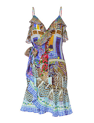 Bohemian Bounty Wrap Dress