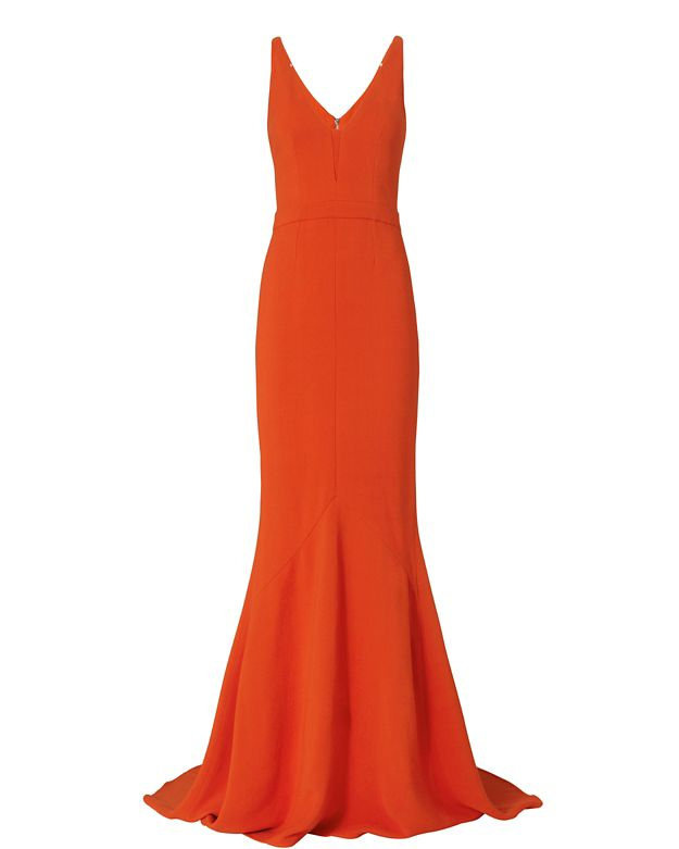Narciso Rodriguez Crepe Gown: Red