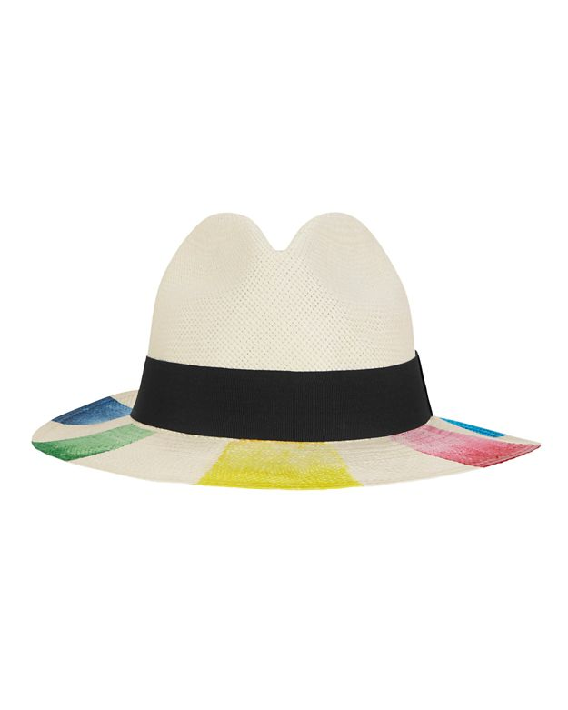 Sensi Studio Colored Brim Panama Hat