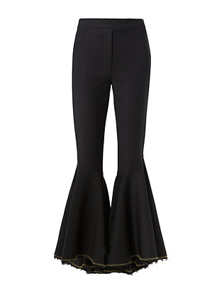 Hysteria Contrast Stitch Crop Flare Pant