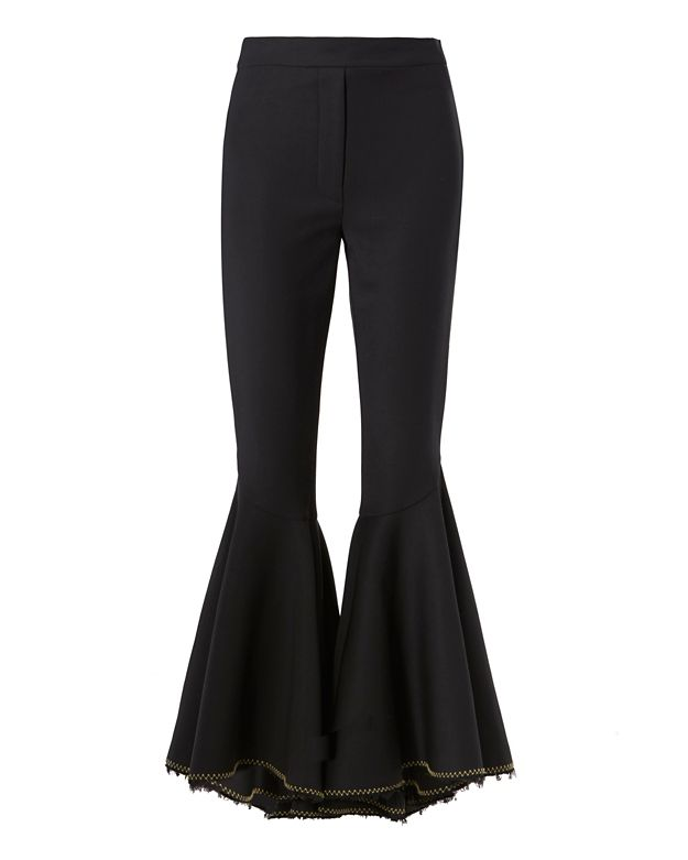 Ellery Hysteria Contrast Stitch Crop Flare Pant