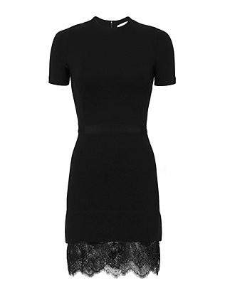 Carven Lace Hem Dress