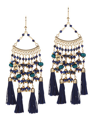 Kilimangiaro Beaded Tassel Earrings