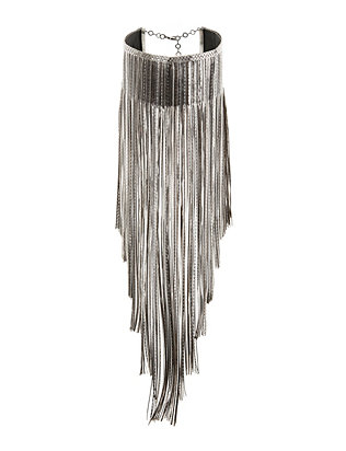 Cattiva Chain Fringe Necklace