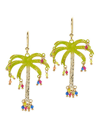 Honolulu Palm Tree Earrings