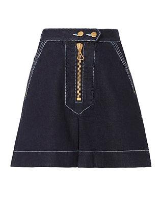 A-Line Front Zip Skirt
