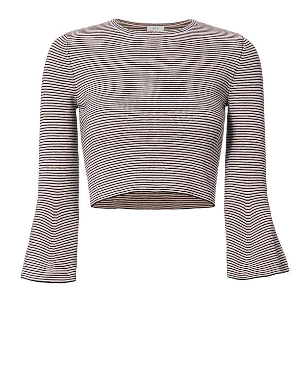 A.L.C. Shiloh Striped Bell Sleeve Top