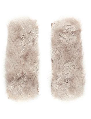 Shearling Lamb Fingerless Gloves