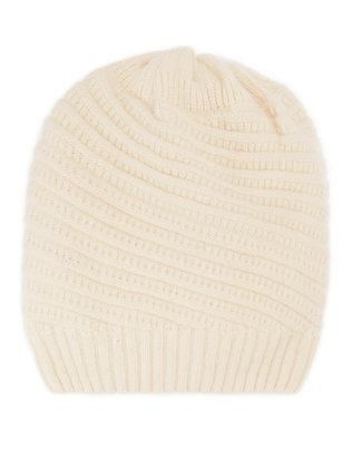 Ivory Slouchy Knit Beanie