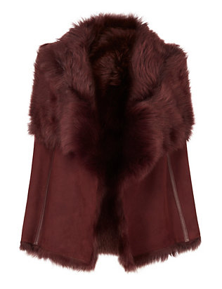 Yves Salomon EXCLUSIVE Cajou Shearling Lamb Vest