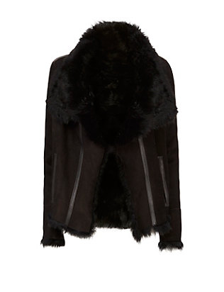 Yves Salomon Shearling Lamb Short Jacket