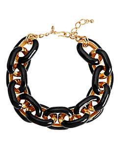 Kenneth Jay Lane Chain Link Necklace: Black