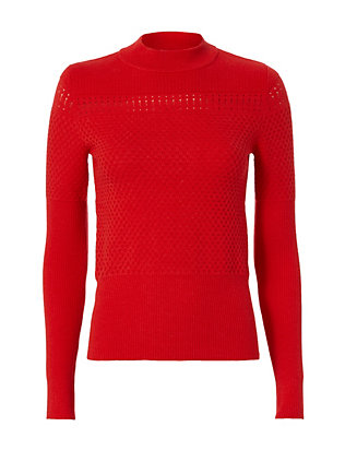 Carven Pointelle Knit Sweater