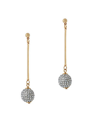 Kenneth Jay Lane Pave Crystal Ball Drop Earrings