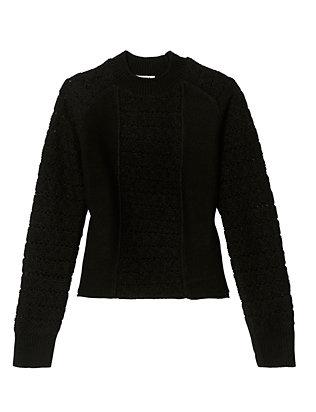 Open Weave Detail Knit Sweater