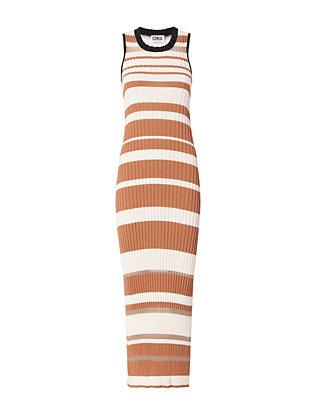 Stripe Knit Sleeveless Dress