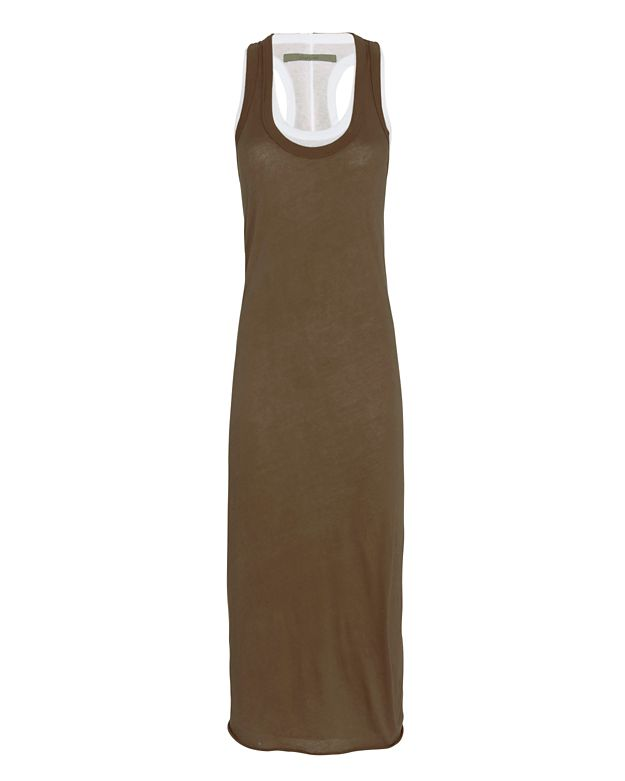Enza Costa Double Layer Tank Dress