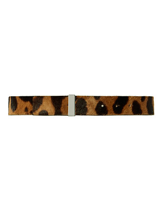 Leopard Print Haircalf Belt