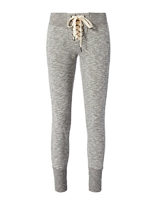 Lace-Up Sweatpants: Grey