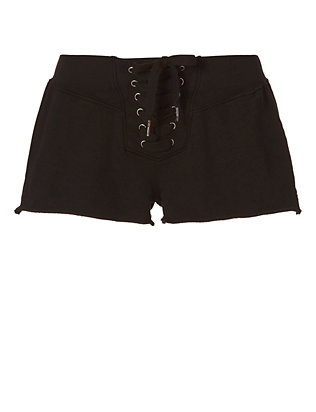 Bradshaw Lace-Up Shorts: Black